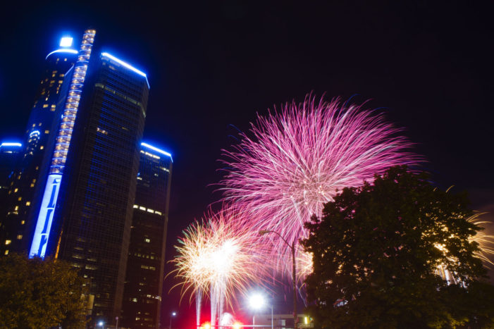 4 shot during fireworks in downtown Detroit; 2 suspects in custody