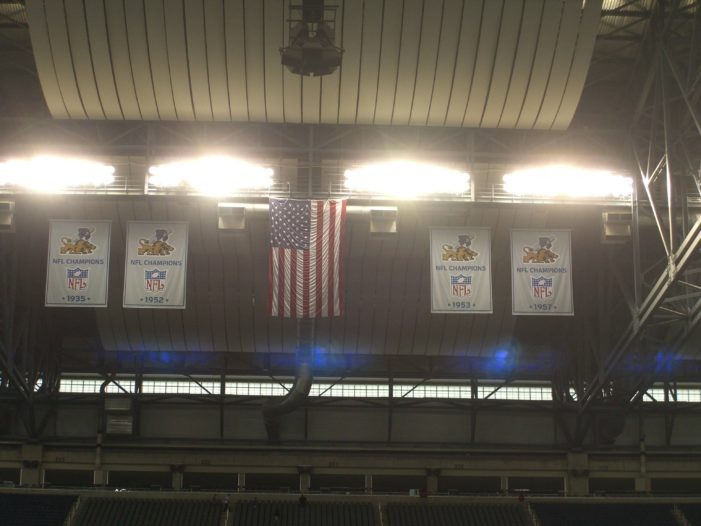 Lions unveil new banners, with small logo mistake