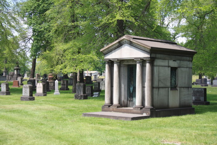 Vandals smash urns, spray graffiti at historic cemetery in Detroit