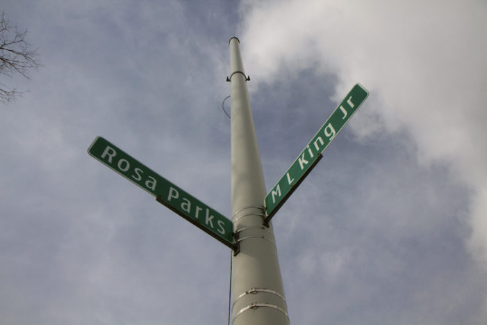 Detroit's rundown Martin Luther King Boulevard lined with abandonment, homelessness, new housing