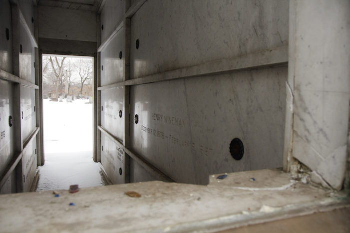 Cemetery theft: Close-up look at mausoleums damaged at historic Woodmere Cemetery
