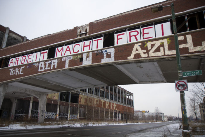 Chilling message on abandoned Packard Plant removed by popular blogger
