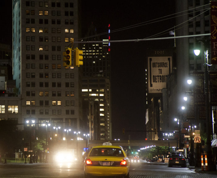 Traffic lights in downtown malfunctioned all night as Detroit boosters tried to impress ESPN