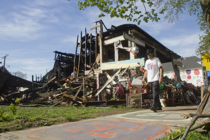 Lens on Detroit: Suspicious fire ravages major installation at Heidelberg Project
