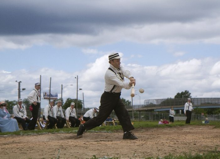 Fans reclaim Tiger Stadium, open imaginations with 1860s baseball, peanuts & Faygo