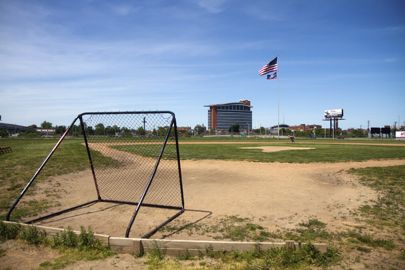 The former Tiger Stadium field. Photos by Steve Neavling