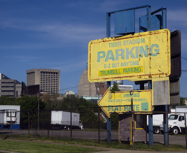 An old parking side near the former Tiger Stadium site. Photo by Steve Neavling.