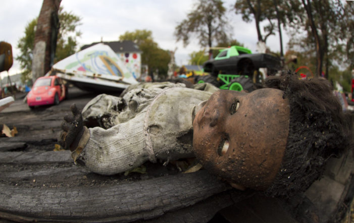 Heidelberg Project rebuilds after fire claims eclectic home