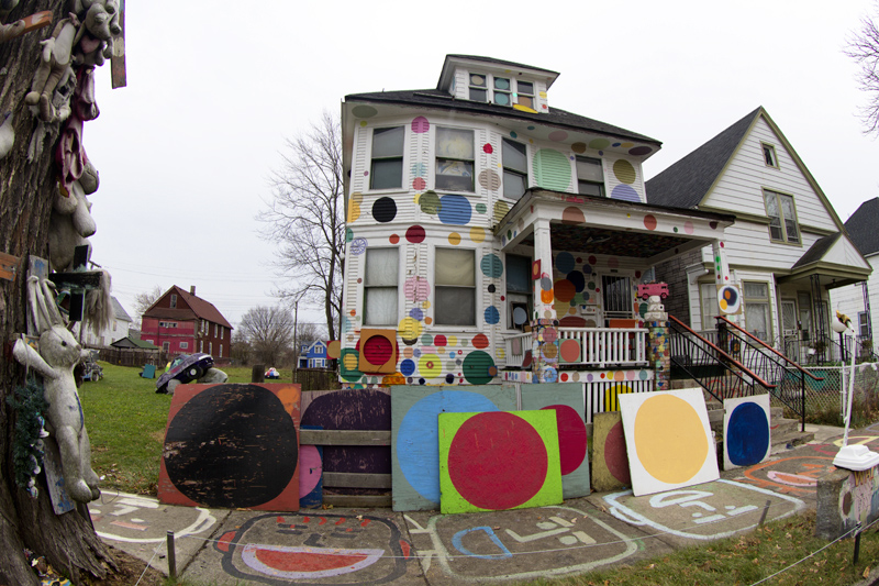 Heidelberg artist Tyree Guyton's mom lives and owns this home, which could be foreclosed next year for more than $4,000 in delinquent taxes.
