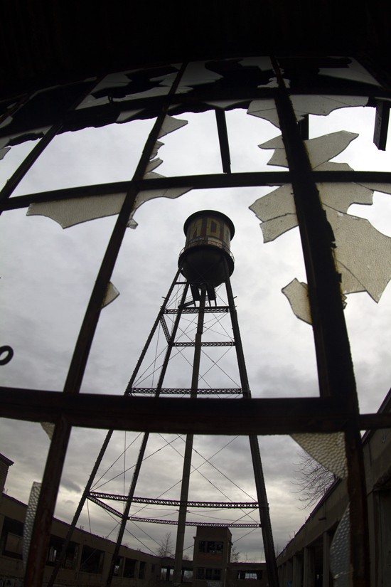 Thieves target massive water tower at Packard Plant in Detroit