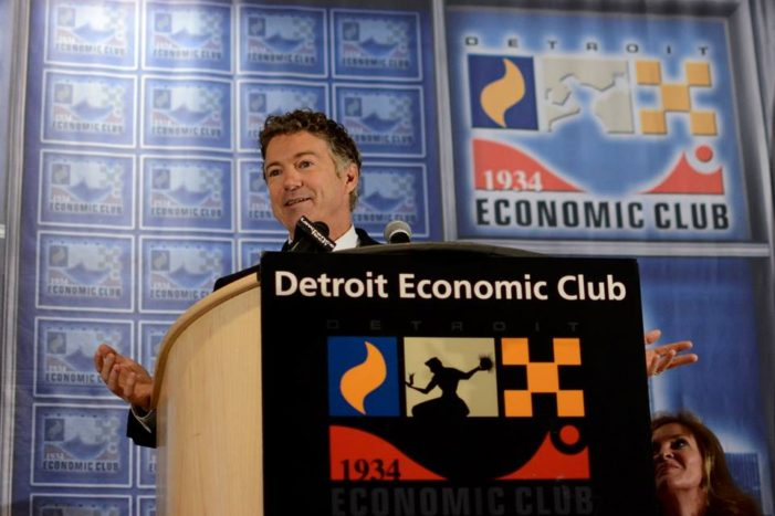 Sen. Rand Paul touts plan to lower taxes in Detroit to generate new business