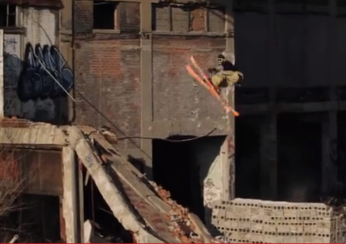Wow! Extreme skiing at Packard Plant, other Detroit landmarks (video)