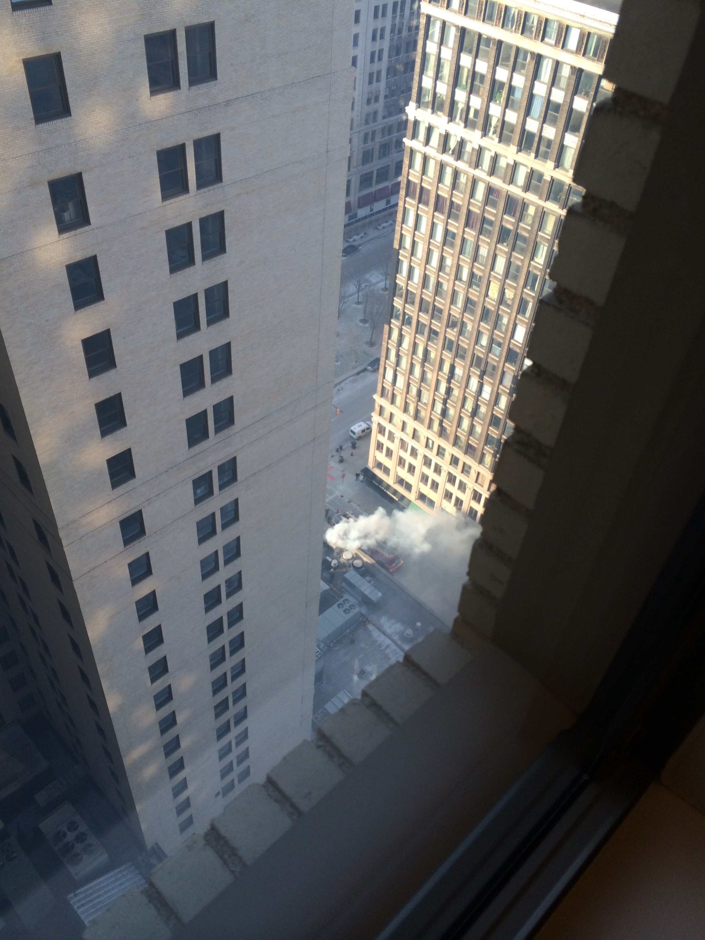 Book Cadillac Catches Fire In Downtown Detroit Forcing