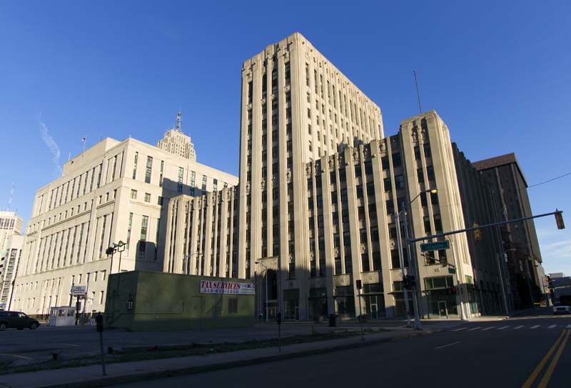 Old Detroit Free Press building at 321 W. Lafayette.