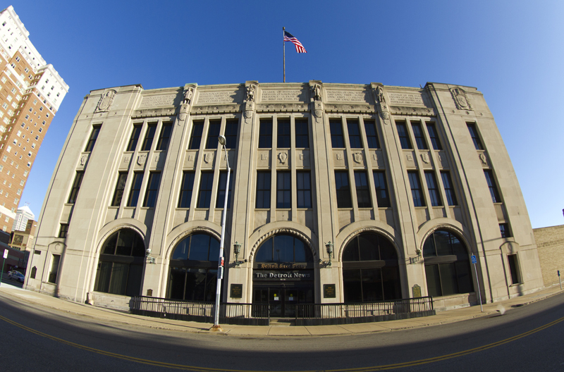 The former home of the Detroit Free Press and Detroit News. Photo by Steve Neavling.