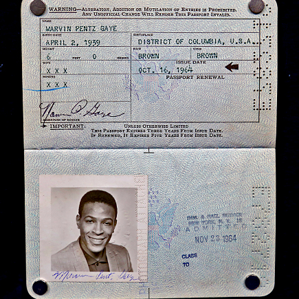 Detroiter finds 1964 Marvin Gaye passport worth at least $20,000