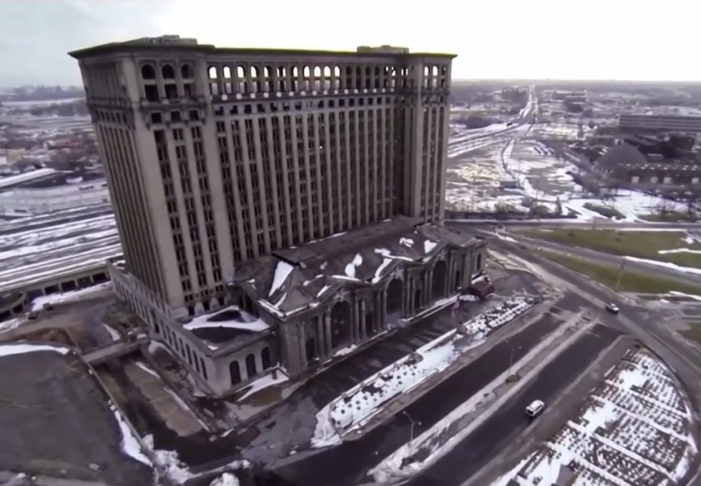 Video: Incredible aerial views of Detroit's train station, Belle Isle, Packard, more