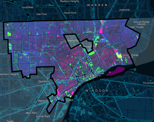 Interactive map offers new perspective on age of Detroit's houses, buildings