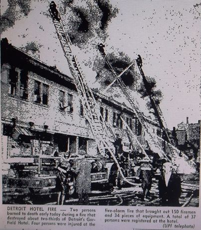 Mar. 4, 1963: Garfield Hotel is destroyed in a five-alarm fire