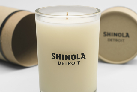 Wet cement candles? Leather bike locks? Shinola selling more than watches