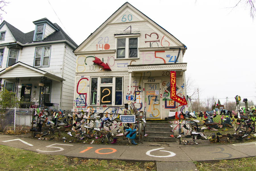 The Number House, which is used by the Heidelberg Project, is up for auction.