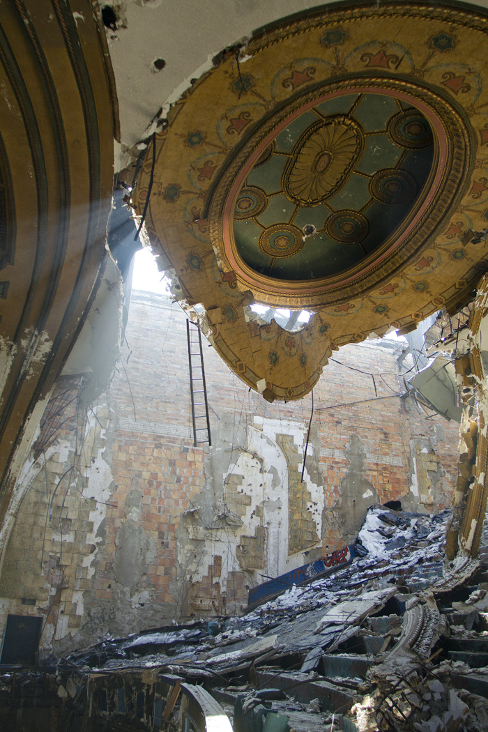 Scrappers cause collapse of ornamental ceiling in storied Eastown Theatre in Detroit