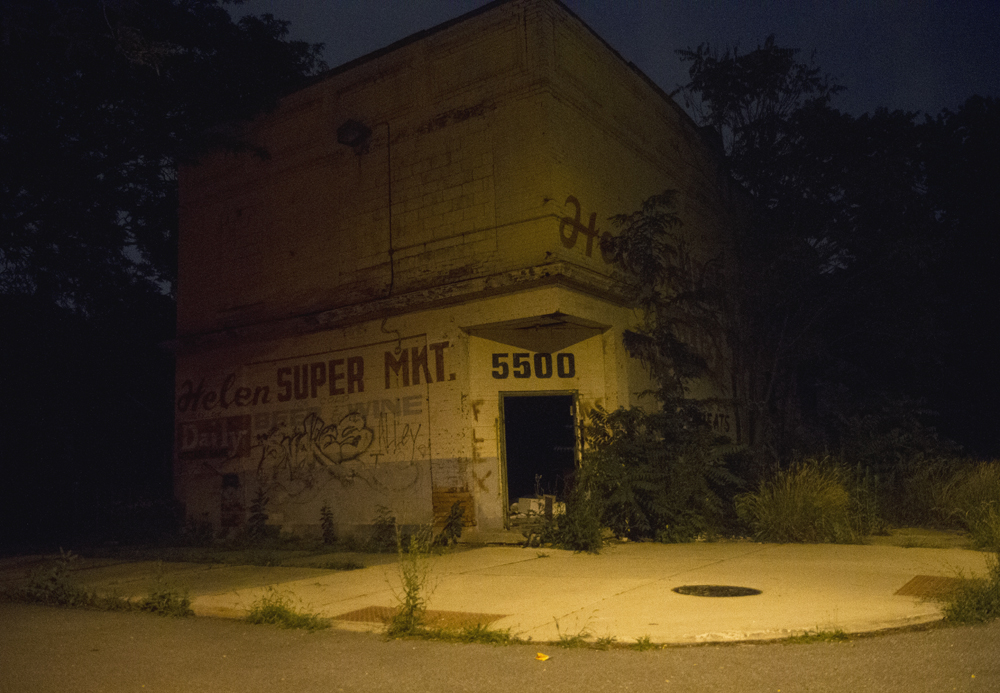 "Abandoned ""super market"" on Detroit's east side"