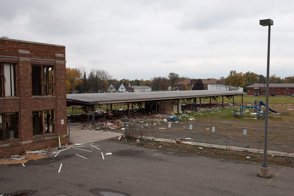 Parker Elementary after scrapping.