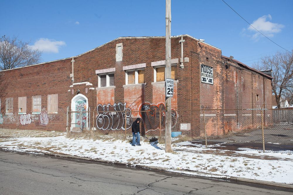 It will cost $50,000 to remove graffiti from this building in southwest Detroit.