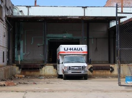 U-Haul takes away scrap.