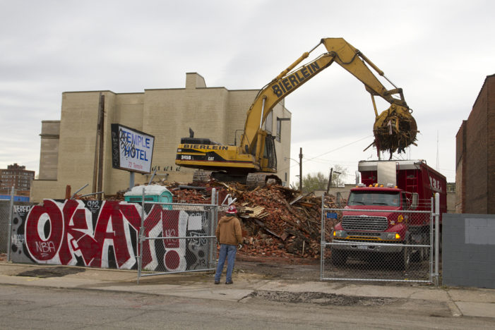 Storied Temple Hotel demolished in Cass Corridor for DTE