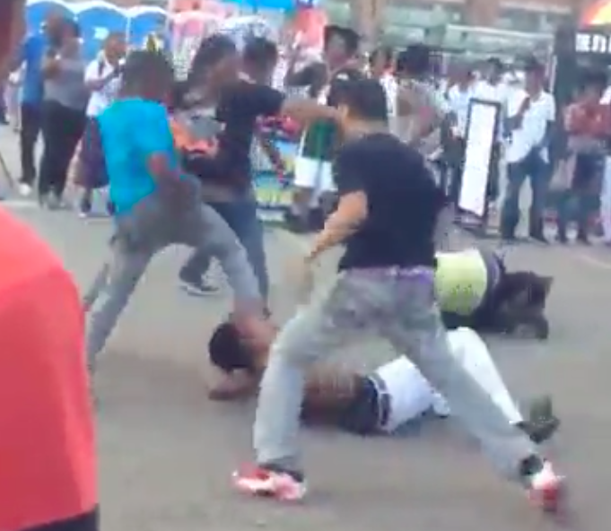 Video: Detroit's riverfront breaks out in brawl over weekend
