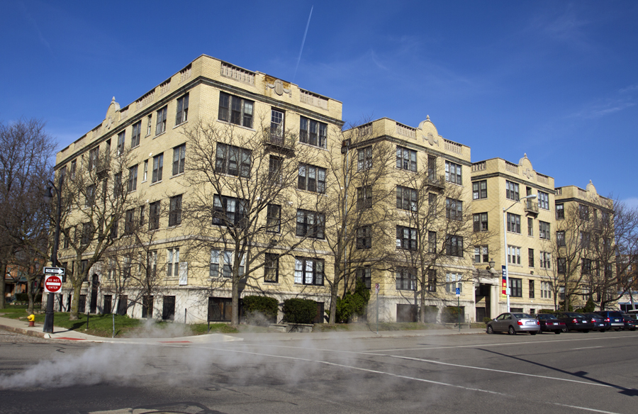 The Sheridan Court Apartments were built in 1921, replacing single-family homes built in the 19th century.