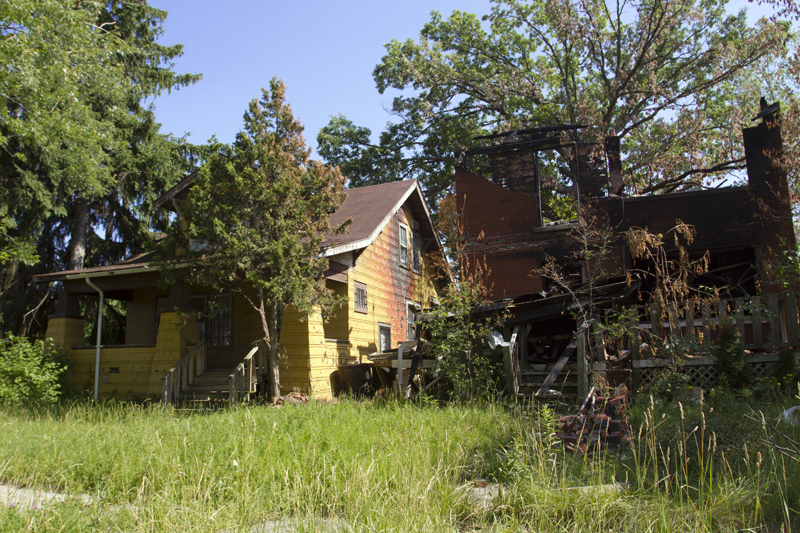 One house was destroyed and another damaged on the 400 block of W. Hollywood on June 6.