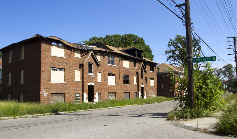 An arsonist struck this apartment building at least three times in the past month.