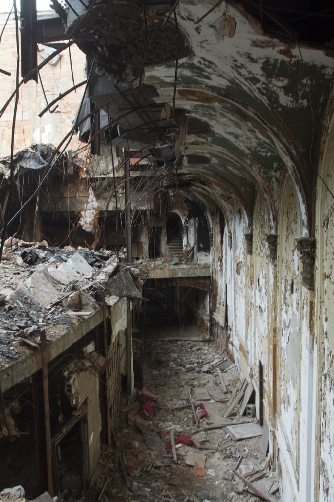 A deteriorating corridor in June 2014.