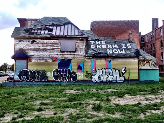 Graffiti vandals strike nonprofit Imagination Station in Detroit