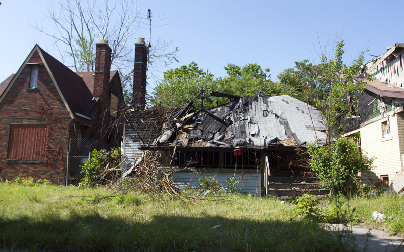 Another W. Robinwood home was flatted by a suspicious fire.