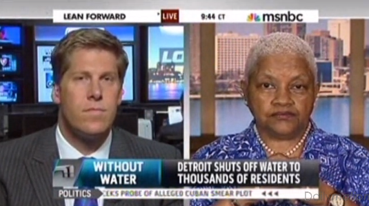 Detroit activist blasts local TV reporter on MSNBC