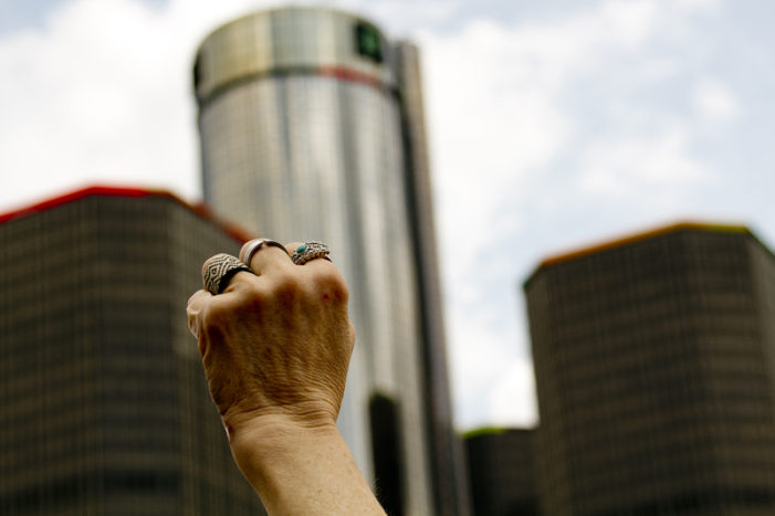 Photos: Protests over water shutoffs increase, drawing about 1,000 to downtown Detroit