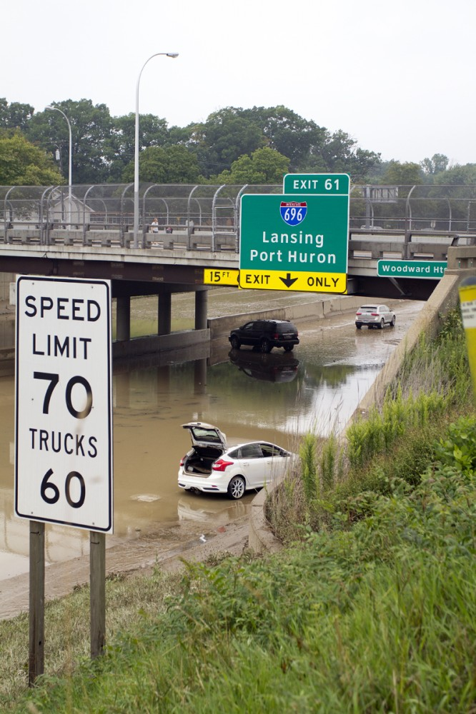 I-75 a day after the flood.