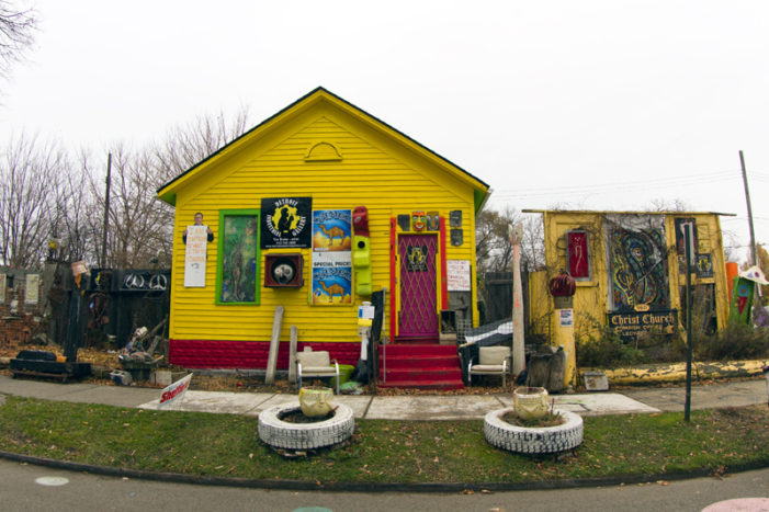 Another art-festooned house burns near Heidelberg Project