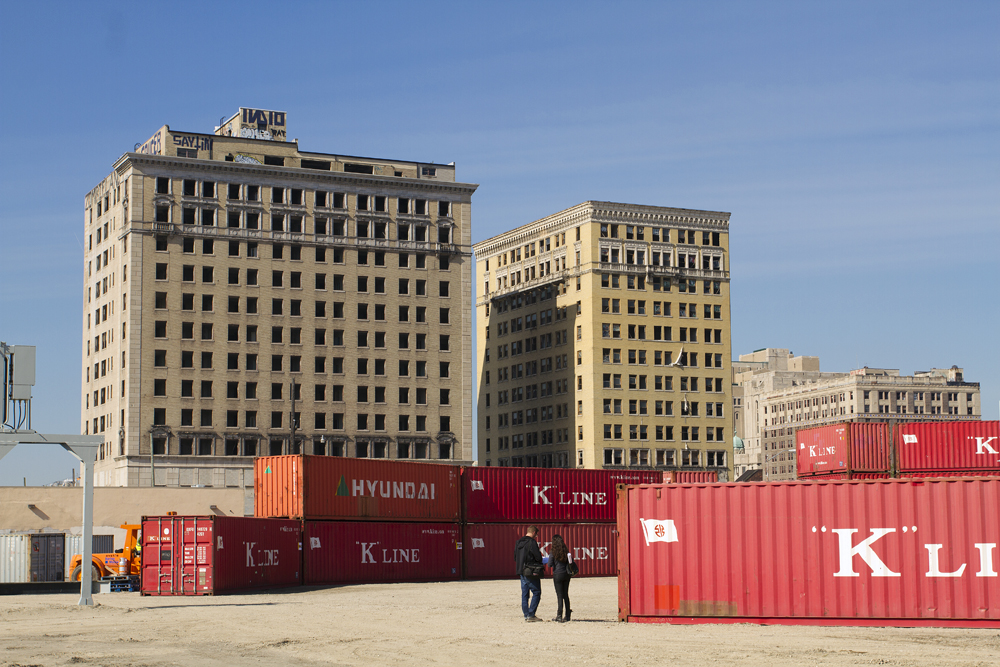 The hotels are on the edge of the Red Wings arena development, which is outlined by the