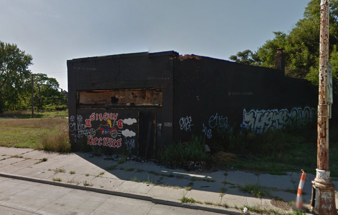 The Sin City Deciples' motorcycle club was intentionally burned last year at 8929 Gratiot. Taxes due: $4,477.