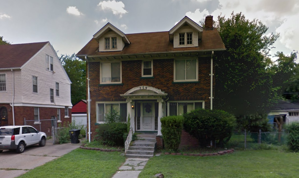 This house sits on a wide lot at 175 W. Grixdale. Taxes owed: $33,900.