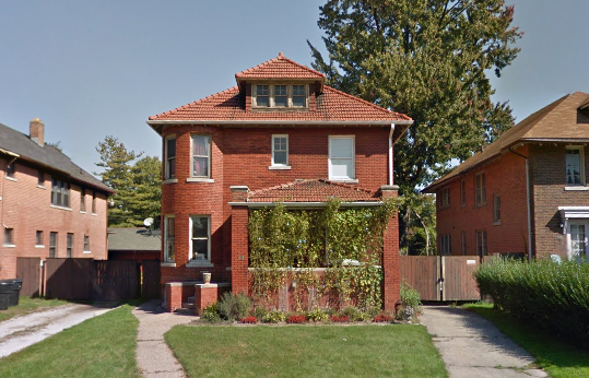Two-story brick home at 926 Alter. Taxes owed: $25,051.