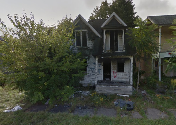 Some homes, like this one at 9348 Cutler, will likely never sell. Taxes due: 8,122.