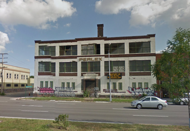This commercial building at 2821 E. Grand Blvd. Taxes owed: $3,758.
