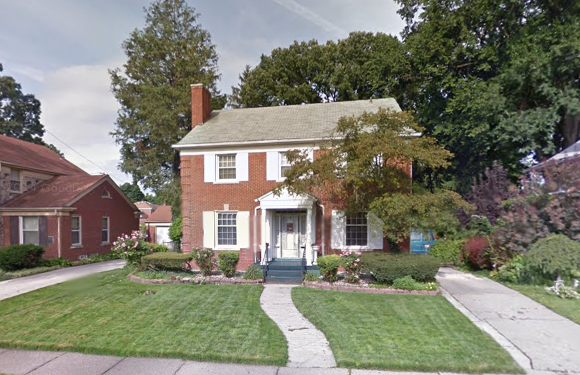 This two-story brick house is at 16603 Warwick. Taxes due: $13,141.