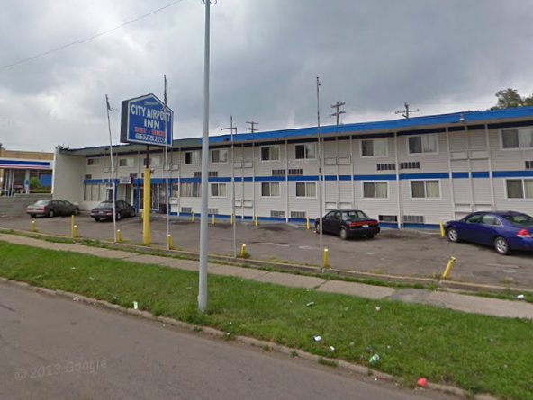 The City Airport Inn at 10945 Gratiot. Taxes owed: $45,452.